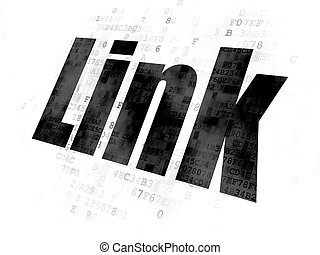 Web design concept: Link on Digital background