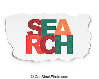 Web design concept: Search on Torn Paper background