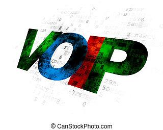 Web design concept: VOIP on Digital background