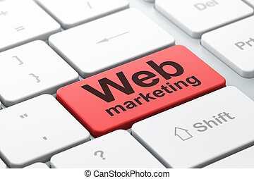 Web design concept: Web Marketing on computer keyboard background