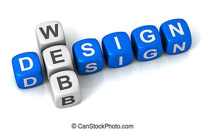 web design cubes concept  3d illustration