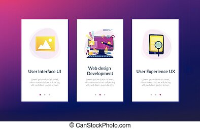 Web design development app interface template
