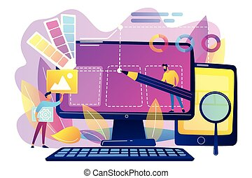 Web design development concept vector illustration