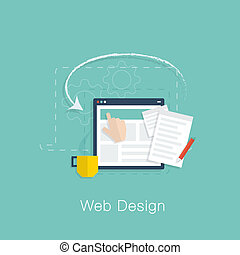 Web design development project vect