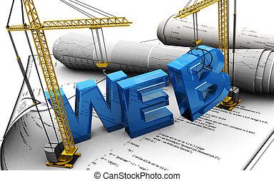 web design - 3d illustration of web design concept