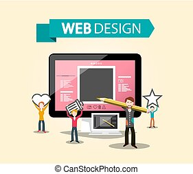 Web Design DTP Concept with Creative Graphic Designers and ...