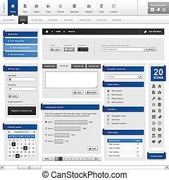Web design element template - A set of web design template...