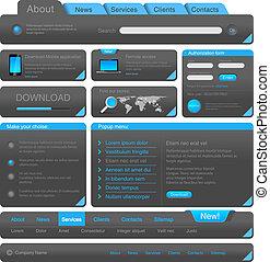 Web design elements collection.