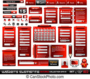 Web design elements extreme collection 2 Black Red Inferno