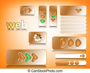 Web design elements, website buttons collection eps10