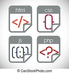 Web design. - Web design over white background, vector...