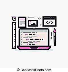 Web design laptop