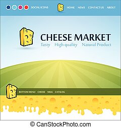 Web Design layout for Cheese Market