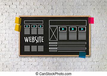 Web Design layout sketch drawing Software Media WWW and Graphic Layout Website development project