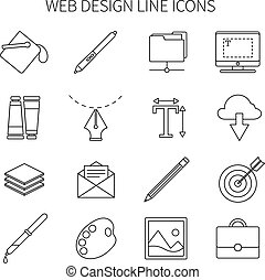 Web Design Line Icon Set