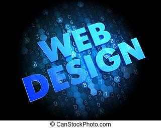 Web Design on Dark Digital Background.