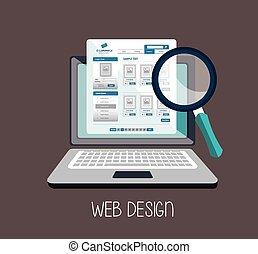 web design online media icon
