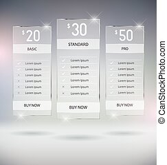 Pricing Tables - Web Design Pricing Tables Template Vector...