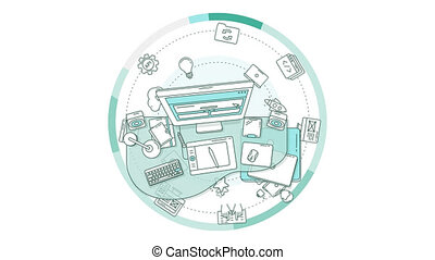 Web design profession Animation - Dynamic and detailed...