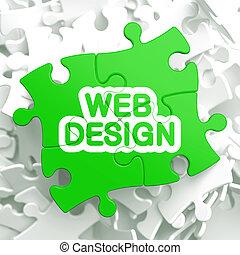 Web Design. Puzzle Concept.