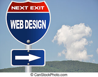Web design road sign
