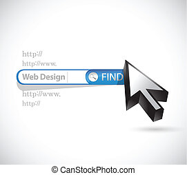 web design search bar illustration design