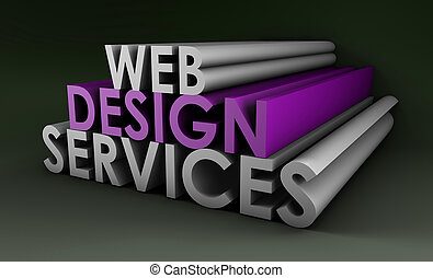 Web Design Services As a Concept in 3d