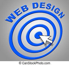 Web Design Shows Websites Online And Internet
