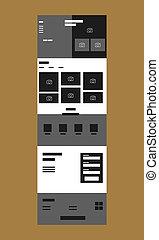 Web design template for business sale modern flat vector