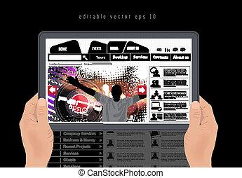 Web design template - web design template, vector