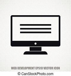 Web design vector Monitor icon. Modern flat design.