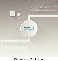 Web design. vector paper progress