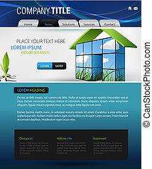 web design vector template