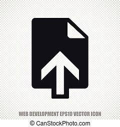 Web design vector Upload icon. Modern flat design.