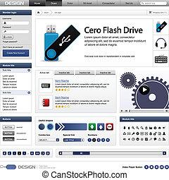 Web Design Website Element Template - A complete set of web ...
