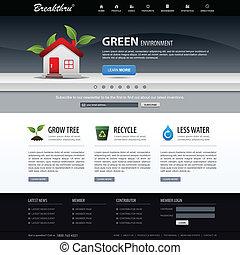 Web Design Website Element Template - A web design layout...