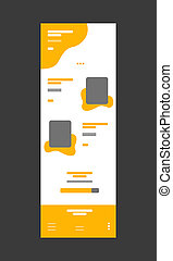 Web design wireframe template for business modern flat vector