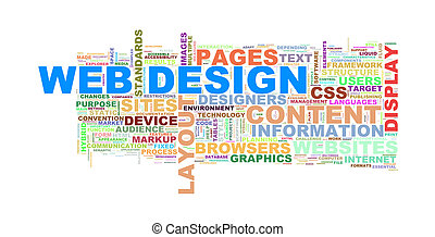 Web design word tags wordcloud