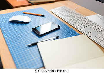 web, designer, рабочее место, developer., или