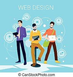 Web Designer Business People Team Working