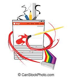 Web Designer Icon Illustration - This image is a...