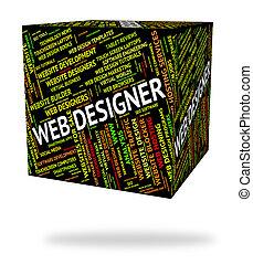 web, designer, words, designing, сеть, shows
