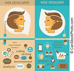 Web designers and web developers. - Business colorful icons...