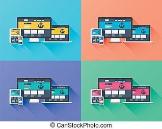 Web designing development vector co