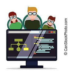 Web developer design. - Web developer design, vector ...
