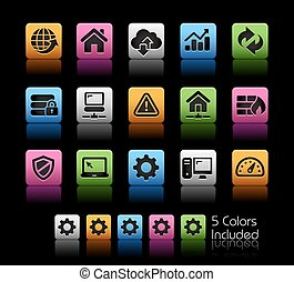 Web Developer Icons - The Vector file includes 5 color...