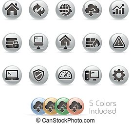 Web Developer Icons - Metal Round - The file includes 5 ...