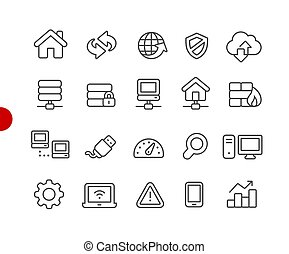 Web Developer Icons // Red Point Series