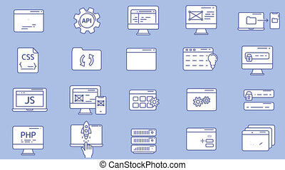 Web Developer Workplace Icon Set - This is a set of...