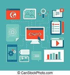 Web development and coding - Vector infographics design ...